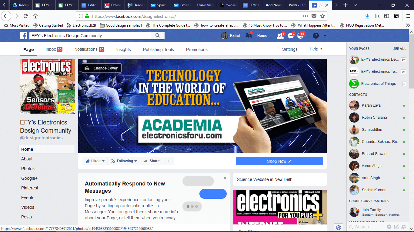 Social Media Promotions on EFY's Electronics Design Engineering Community